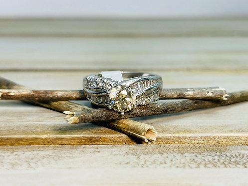 Platinum RBC Engagement Ring