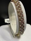 10KYG Diamond & Ruby Bracelet