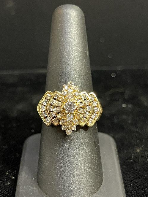 14KYG Diamond Cluster Ring