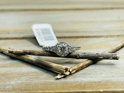 14KWG Tolkowsky Halo Ring