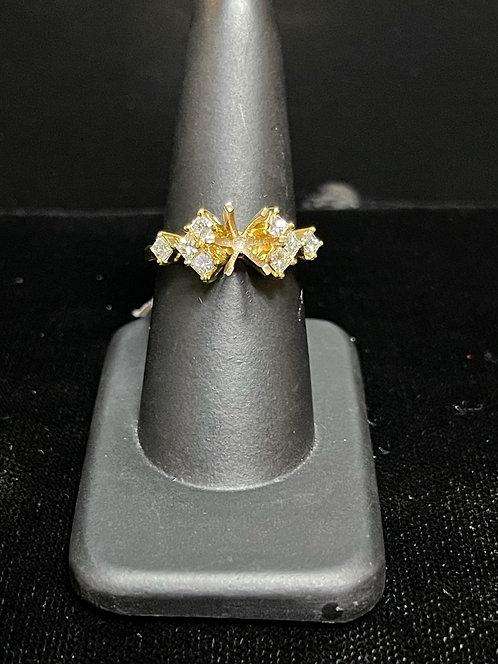 Princess Cut Semi Mount Ring