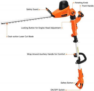 Garcare GPHT06 Hedge Trimmer