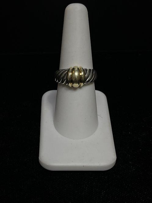 David Yurman Shrimp Dome Ring 925 14K