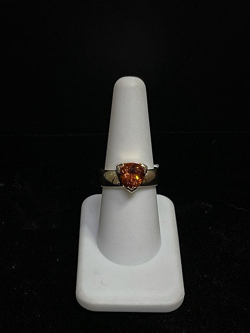14KYG Triangular Citrine Ring