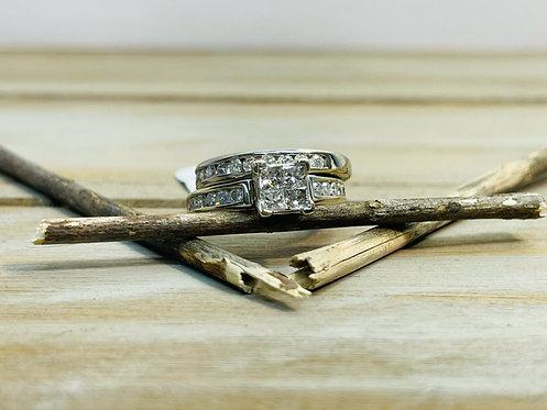 14KWG 2 Piece Set Wedding Ring