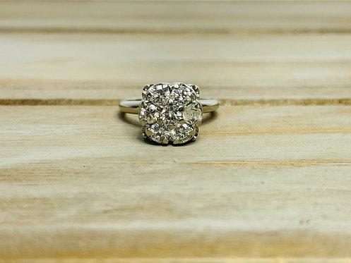 14KWG Diamond Cluster Ring