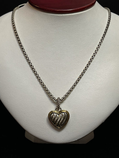 "DY Heart Necklace with 20"" Chain"