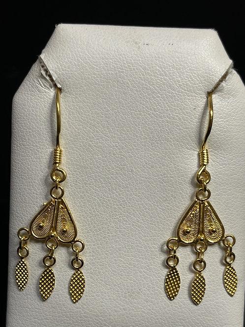 22KYG Fan Earrings