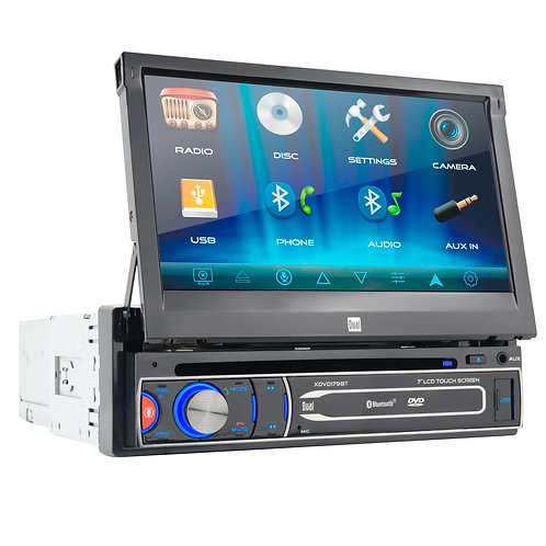 Dual XDVD179BT Flip Out DVD Player
