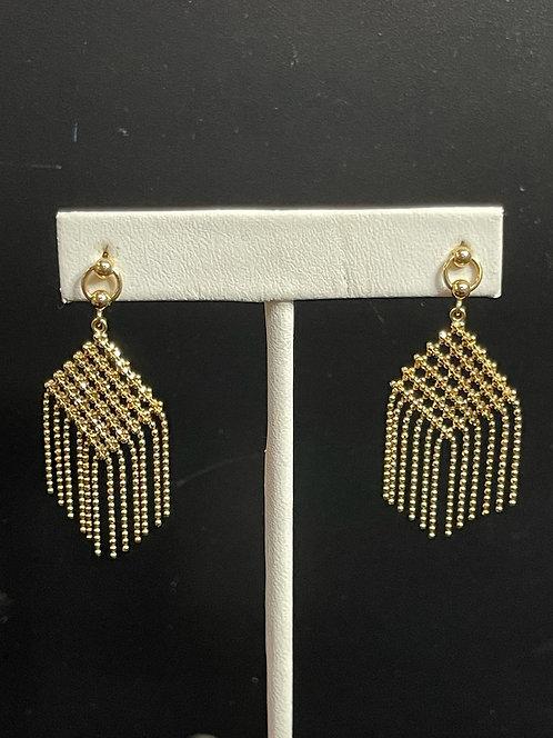 18KYG Beaded Drop Earrings