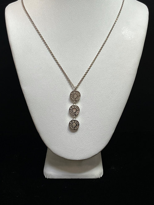 Tiffany & Company Circle 3 Drop Pendant Necklace