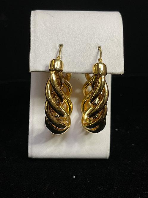 14KYG Twist Hoop Earrings