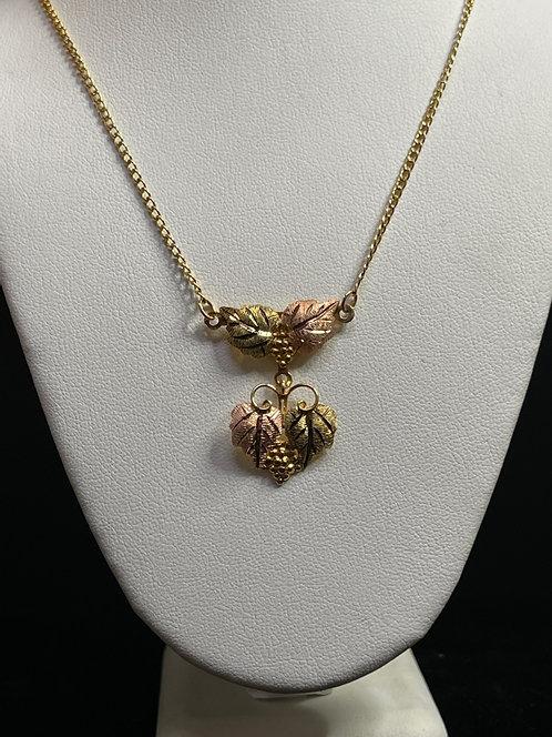 10K & 14K YG BHG Leaf Necklace