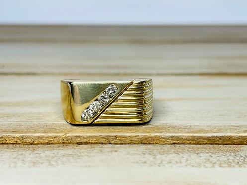 14KYG Slant Ring
