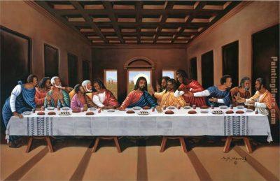 African American Last Supper Art Framed