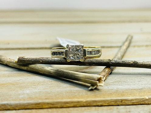 14KYG Diamond Quad Ring