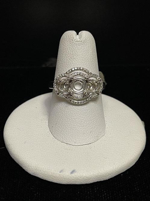14KWG Halo Semi Mount Ring