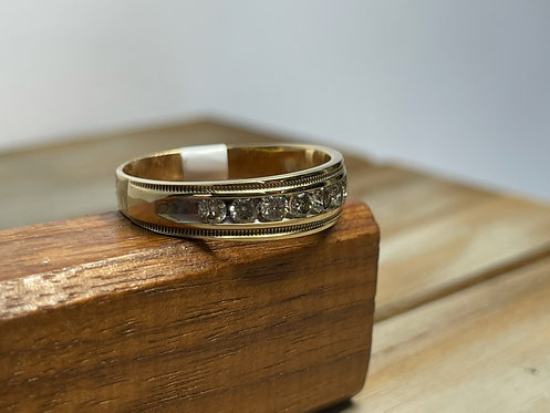 10KYG Channel Band Ring