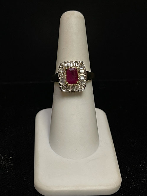 Ruby & Diamond Ring 14KYG