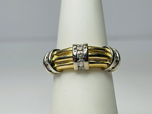 14K Diamond Accented Ring