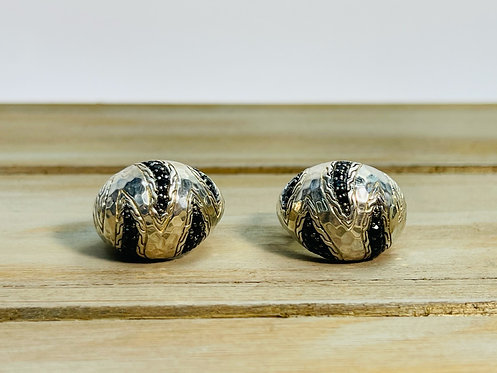 925 John Hardy Paul Macan Black Sapphire Earrings