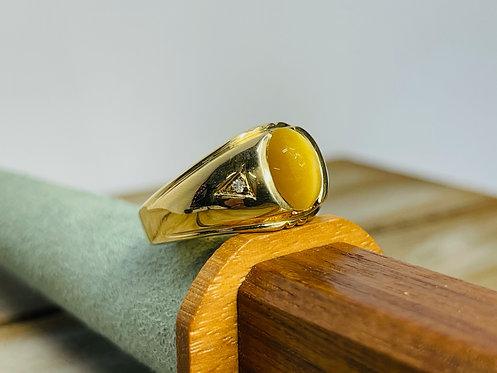 10KYG Tigers Eye Ring