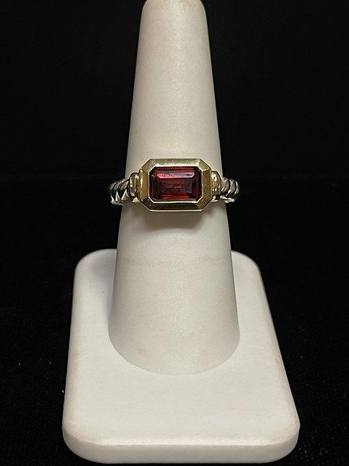 DY Novella Rhodalight Garnet Ring 925
