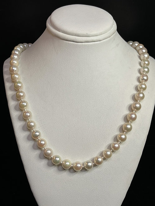 "14KYG 22"" Cultured Pearl Necklace"