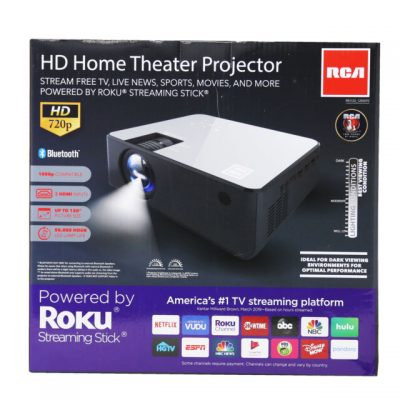 RCA 720P HD Home Theater Projector (includes Roku Streaming Stick)(RPJ133)