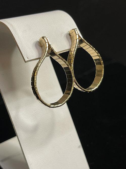 14KYG Custom Omega Earrings by Jim Harringbone