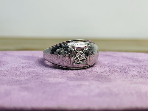 14KYG Gents Solitaire Ring