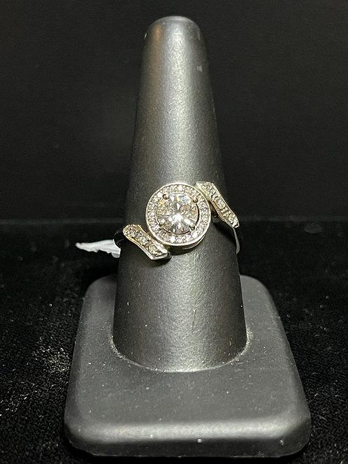Center Diamond Halo Ring