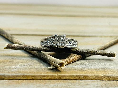 14KWG Quad Engagement Ring