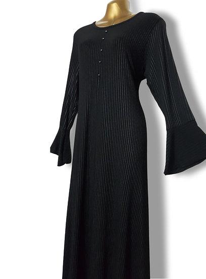 Ladies Black Pleat Design | Abaya