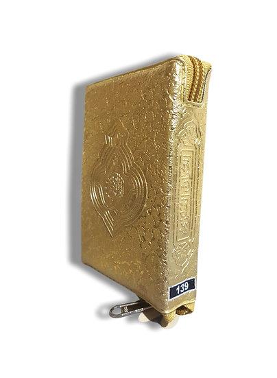 Holy Quran Golden Zip Case 139
