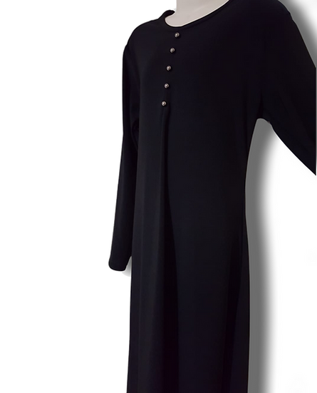 Girls Plain Black | Abaya