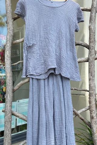 Cotton gauze top & pants (various colors)