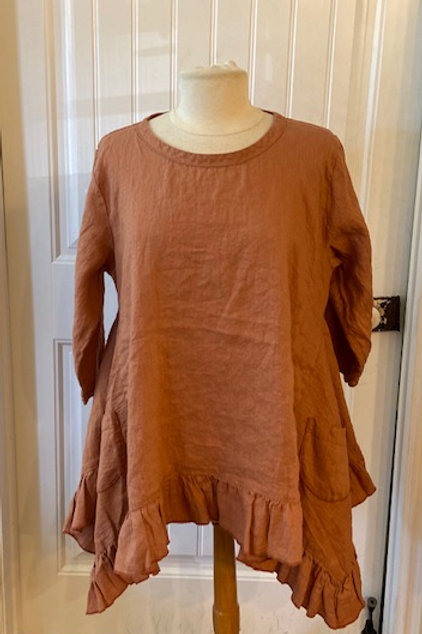 Hearts Desire tunic (persimmon, green & black)