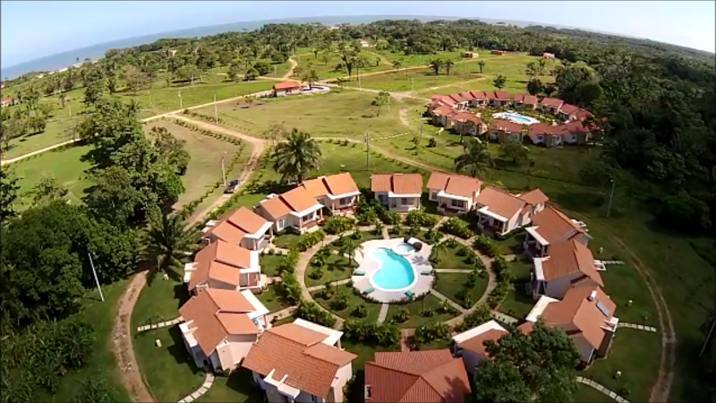 Ariel view of Villas