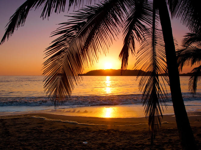 Sunset In Punta Chame, Panama