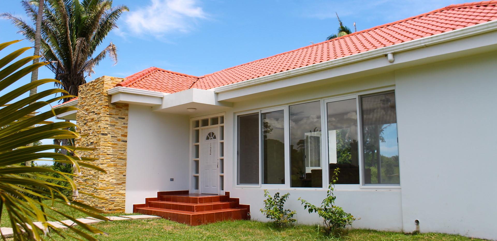 Custom home exterior.