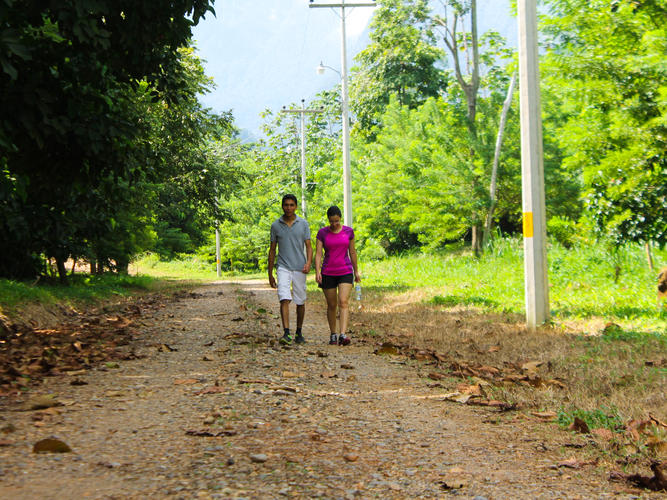 Walking the grounds of corinto pearl