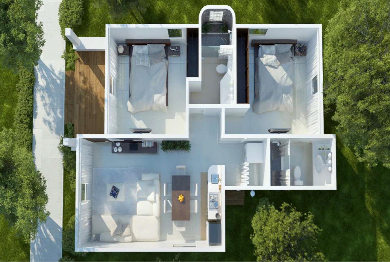 Villa Floor Plan 2 Bedroom