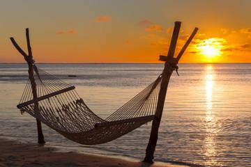 Hammock with sunset