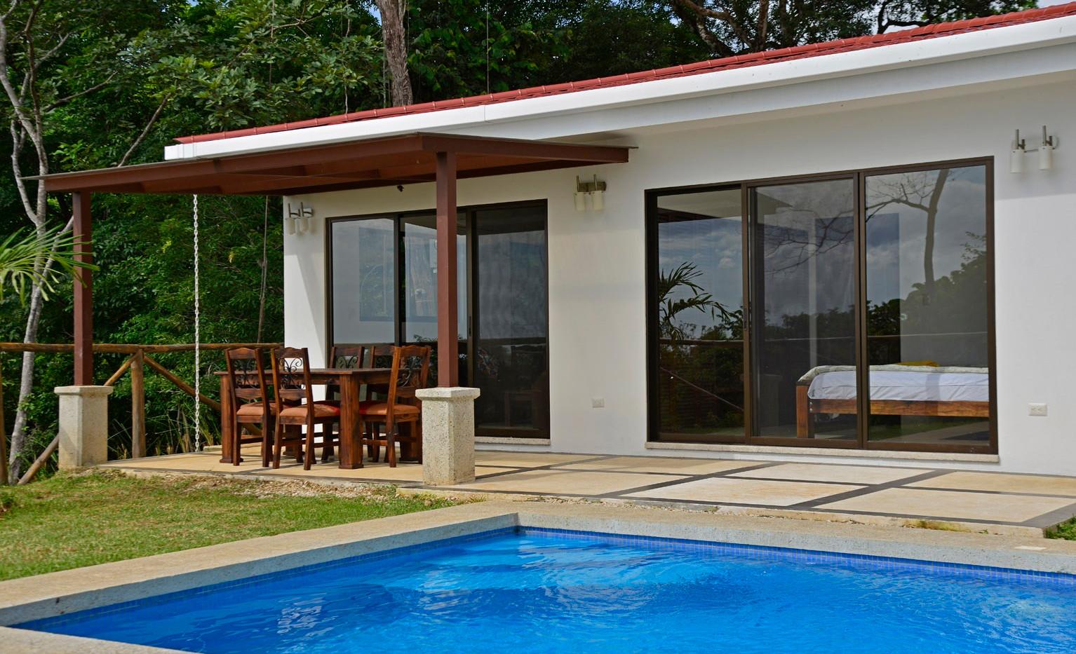 Custom home with pool.