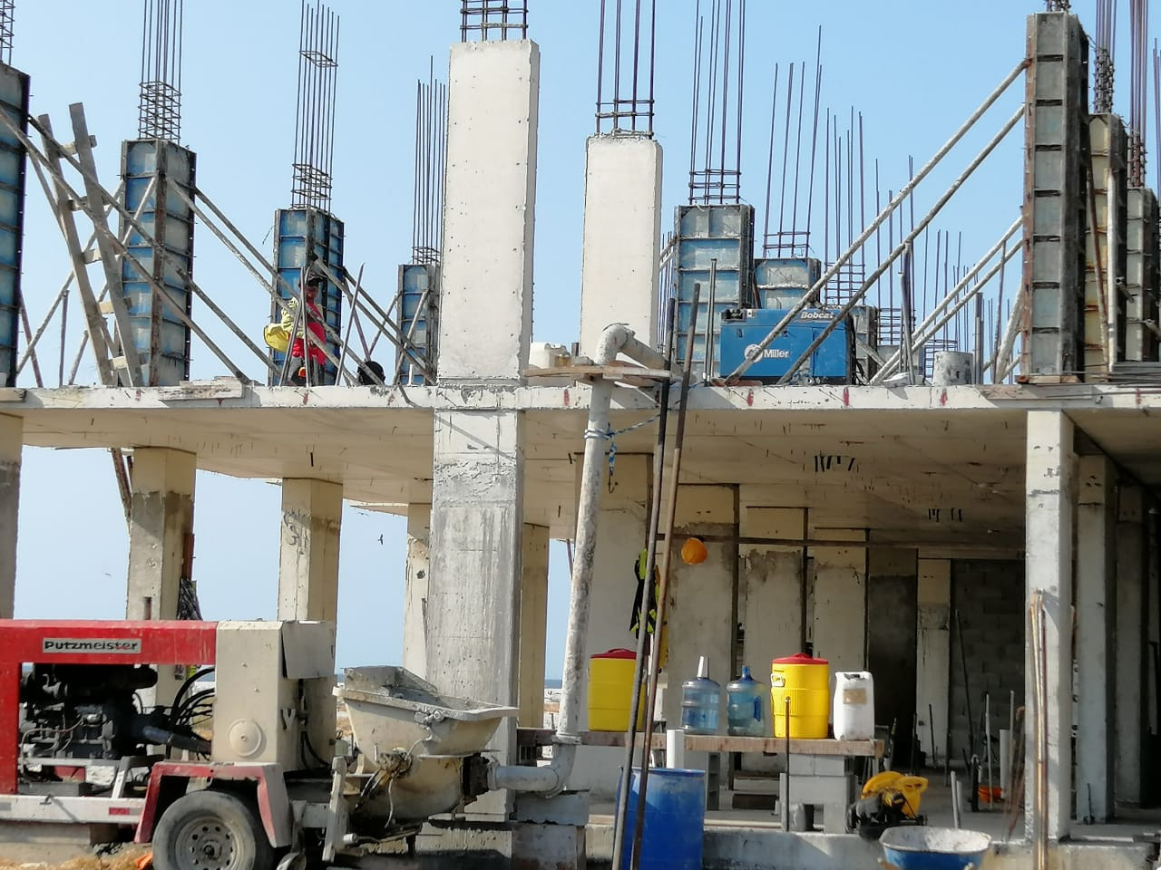 Construction site for PCED