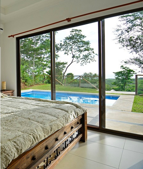 View from custom home bedroom.
