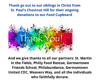 Thank go out to our siblings in Christ f