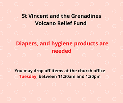 St. Vincent Relief Email from St. Michae