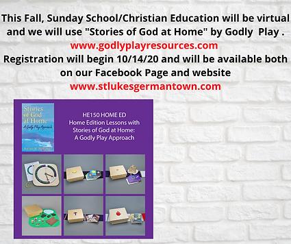 This Fall, Sundat School_Christian Educa